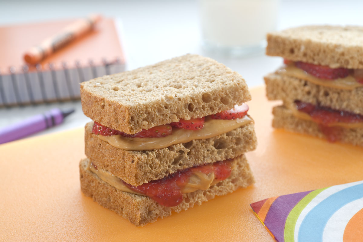 Double Strawberry Peanut Butter Club