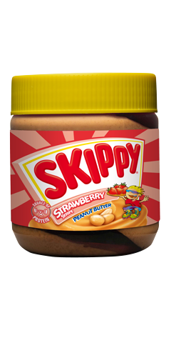 SKIPPY® STRAWBERRY STRIPE PEANUT BUTTER