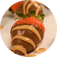 Peanut Butter 'n' Chocolate Dipped Strawberries